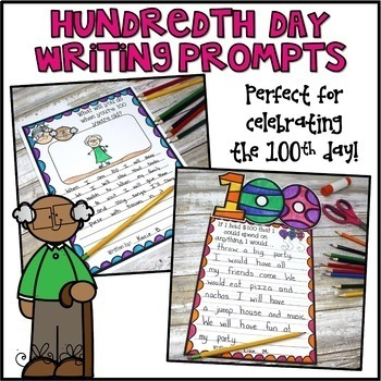 100th Day of School Writing Prompts & Page Topper Craftivities
