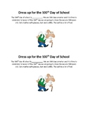 100th Day of School dress up note