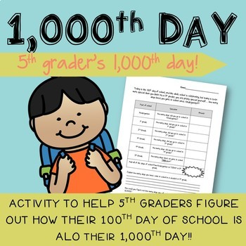100th Day of School for 5th Graders