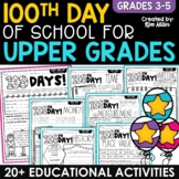 100th Day of School Activities for UPPER GRADES!