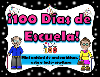 100th Day of School in Spanish  Craftivity   100 Dias de esculea
