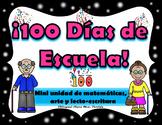 100th Day of School in Spanish  Craftivity   100 Dias de esculea