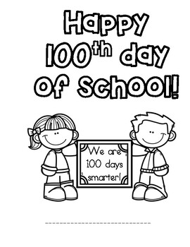 100th Day of School student book