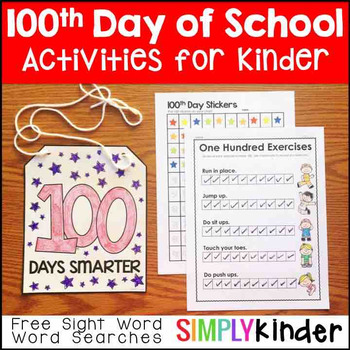 100th Day of School Activities - Kindergarten & First Grade