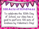 100th Day/Valentine's Acts of Kindness {Freebie}