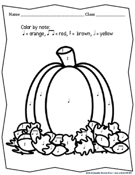 "100th Feedback Freebie - Pumpkin Time ""Color by Note"" {ta titi rest ta-ah}"