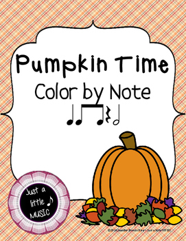 "100th Feedback Freebie - Pumpkin Time ""Color by Note"" {ta"