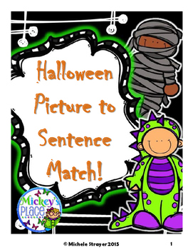 Halloween Sentence to Picture Match