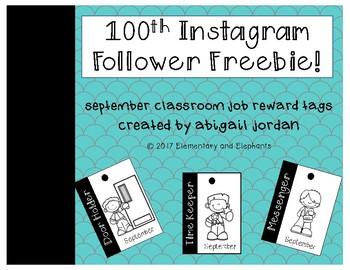100th Instagram Follower Freebie : Brag Tags