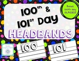 100 Day 101 Day Headbands & Glasses