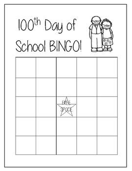 100th day BINGO