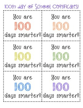 100th day activities!