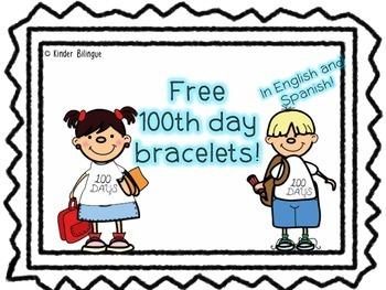 100th day bracelet (wristband)