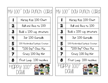 100th day card