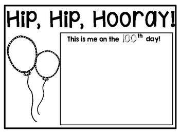 100th day certificates, crown, & homework passes