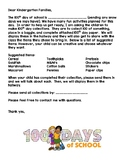 100th day collections letter and paper