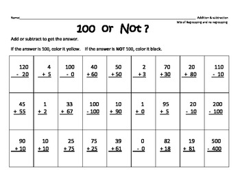 100th day differenciated Math Activities