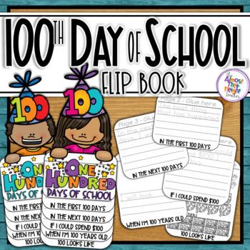 100th Day of School Activity Flip Book with bonus Brag Bracelet