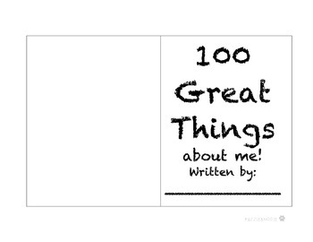 100th day of School- 100 Great things book