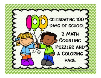 100th Day Coloring Page Worksheets & Teaching Resources | TpT