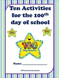 100th day of school ENGLISH 10 activities