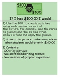 100th day of school: If I had $100.00 I would...