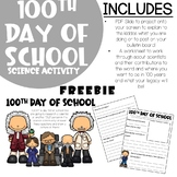 100th day of school - SCIENCE FREEBIE
