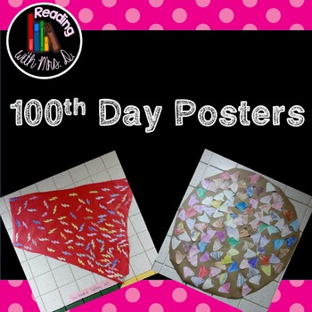 100th day of school Student made posters
