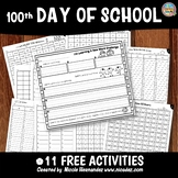 FREE 100th day of school activities for kindergarten and first grade