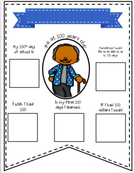 100th day of school adapted banner set