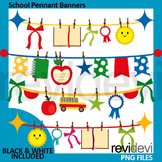 100th day of school - pennant banners clip art