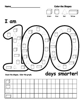 "100th day of school ""shapes"""