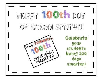 100th day of school treat