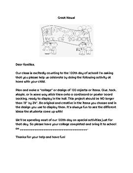 100th day project letter