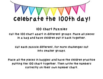 100th day puzzles/chart