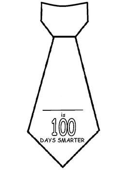 100th day tie template