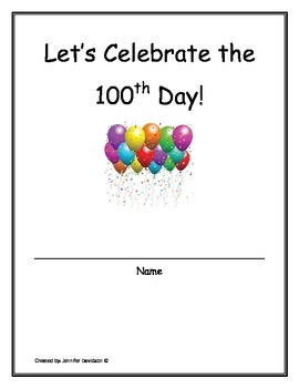 100th day writing activities packet