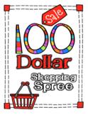 100th or 120th Day of School Math Addition Shopping Spree