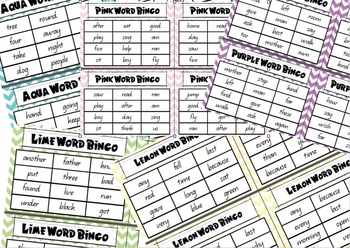 101-200 Magic Word - Sight Word Bingo Boards and Cards **QLD FONT**