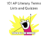 101 AP Literary Terms: Lists and Quizzes