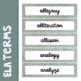 Academic Vocabulary Word Wall ELA Grades 6 - 9
