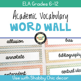 Academic Vocabulary Word Wall ELA Grades 6-12
