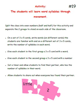 101 Activities for Kinesthetic Learners