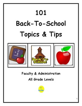 101 Back-to-School Topics and Tips