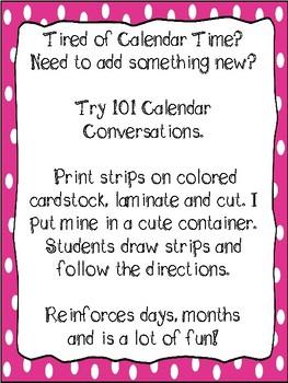 101 Calendar Conversations