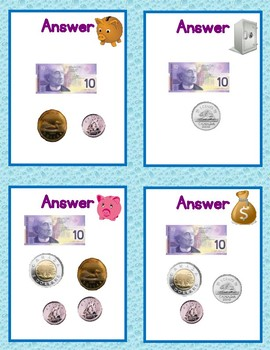 101 Counting Money Practice Cards for Counting Amounts From $10.00 to $50.00