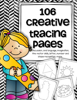 Creative Tracing Printables 106 Pages Letters Numbers Shapes & Themes