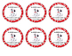 101 DALMATIANS DOG SNACK LABELS FOR OPEN HOUSE OR FIRST DA