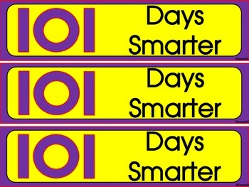 101 Day of School Bookmarks! Color and Blackline