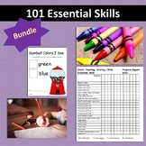 101 Essential Skills BUNDLE: Fine Motor, Colors, Shapes for Teachers  and OT